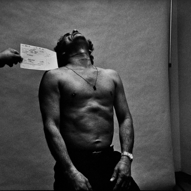 San Francisco, CA. Booking of murder suspect and documenting neck wounds from his attempt at suicide. Lost Promise - The Criminal Justice System. 1993-1996 in San Francisco, CA. In four parts: Cops in the Tenderloin area; Jail; Homicide; Tournment of Shadows: The Public Defender and the Courts.