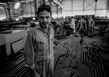 1988: North of Islambad, Pakistan Steelworker. Copyright Robert Gumpert