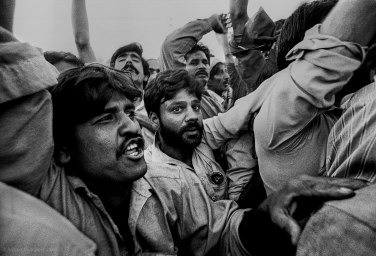 Lahore, Pakistan 1990: A political rally greets their candidate